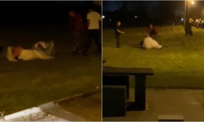 VIDEO: Mladenka nasrnula na gosta dok je žena kraj njih nepomično ležala