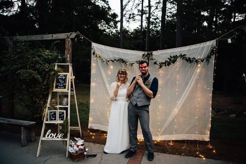 Kutak za slikanje na vjenčanju